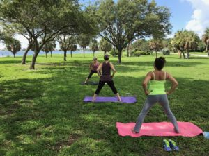yoga at lassing park with lisa kirchner